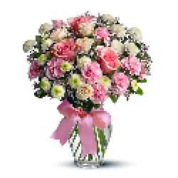 Image of Cotton Candy Flowers Bouquet